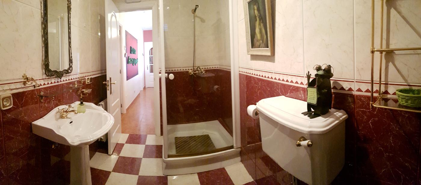 baño con ducha casa rural