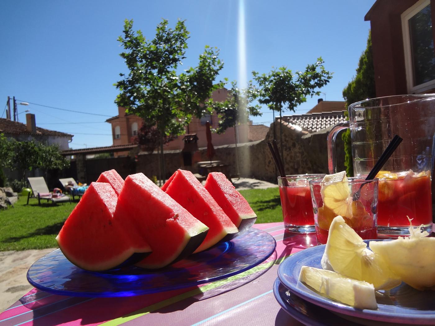casa vacaciones con jardín verano