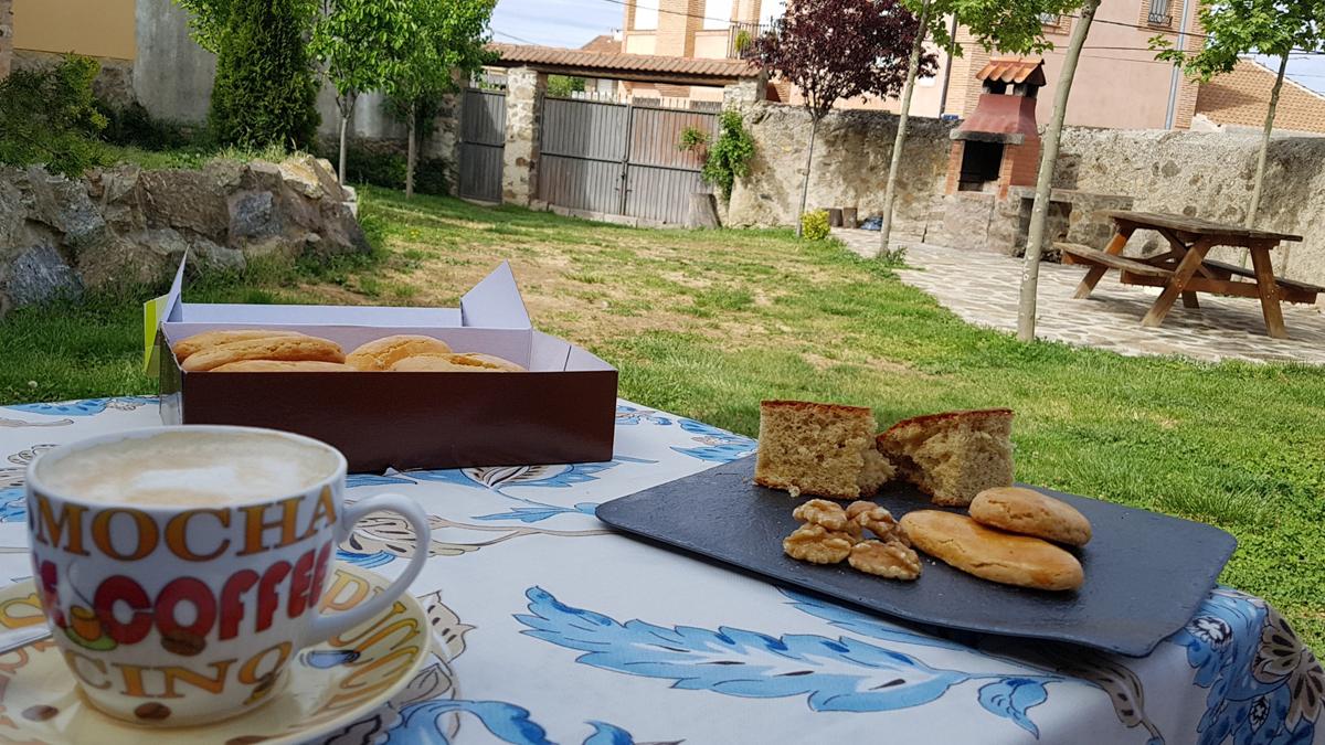 jardín para desayunos