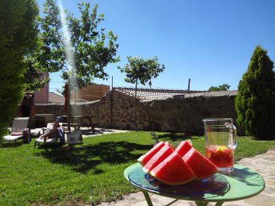 jardín para verano alojamiento rural