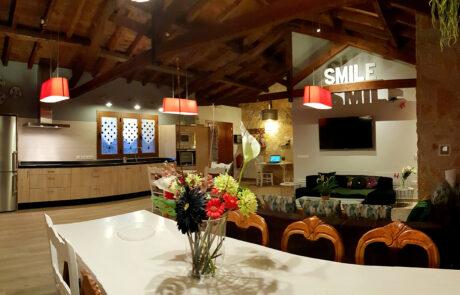 Salon chimenea Casa Rural