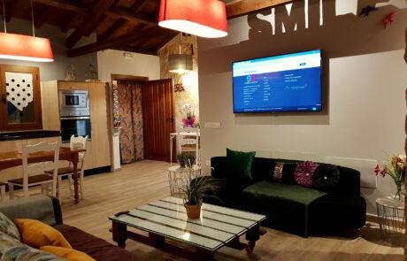 Salon con smart tv