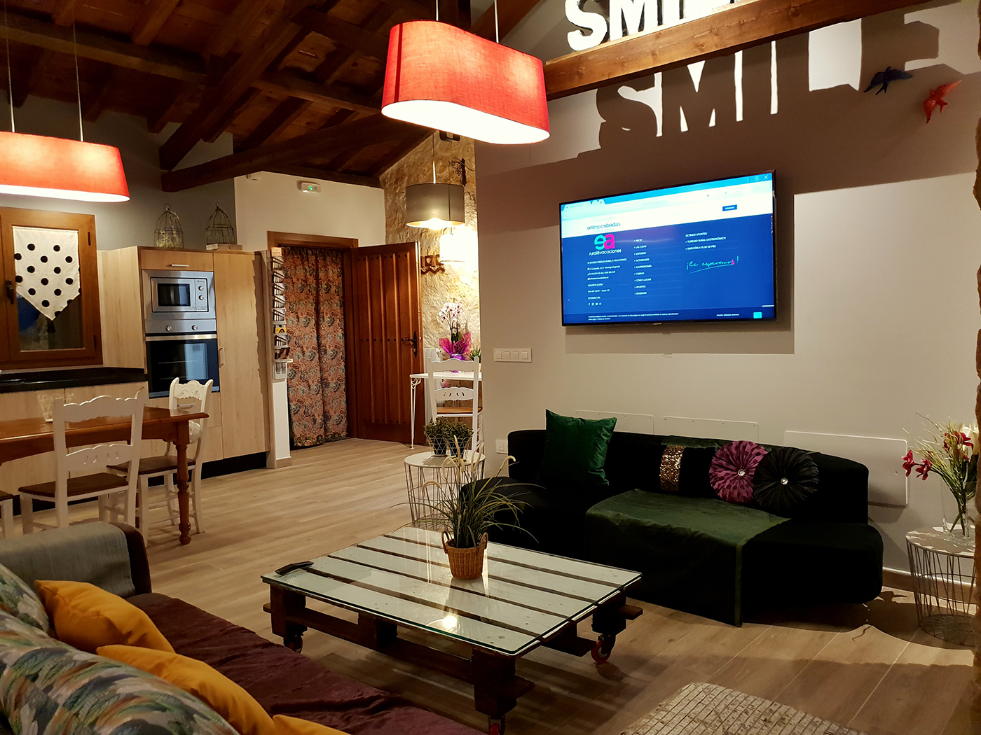 Salon con smart tv